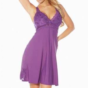 Rhonda Shear Sweet Breeze Molded Cup Butterknit Gown r7900