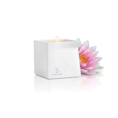 AFTERGLOW Natural Massage Oil Candle | Pink Lotus