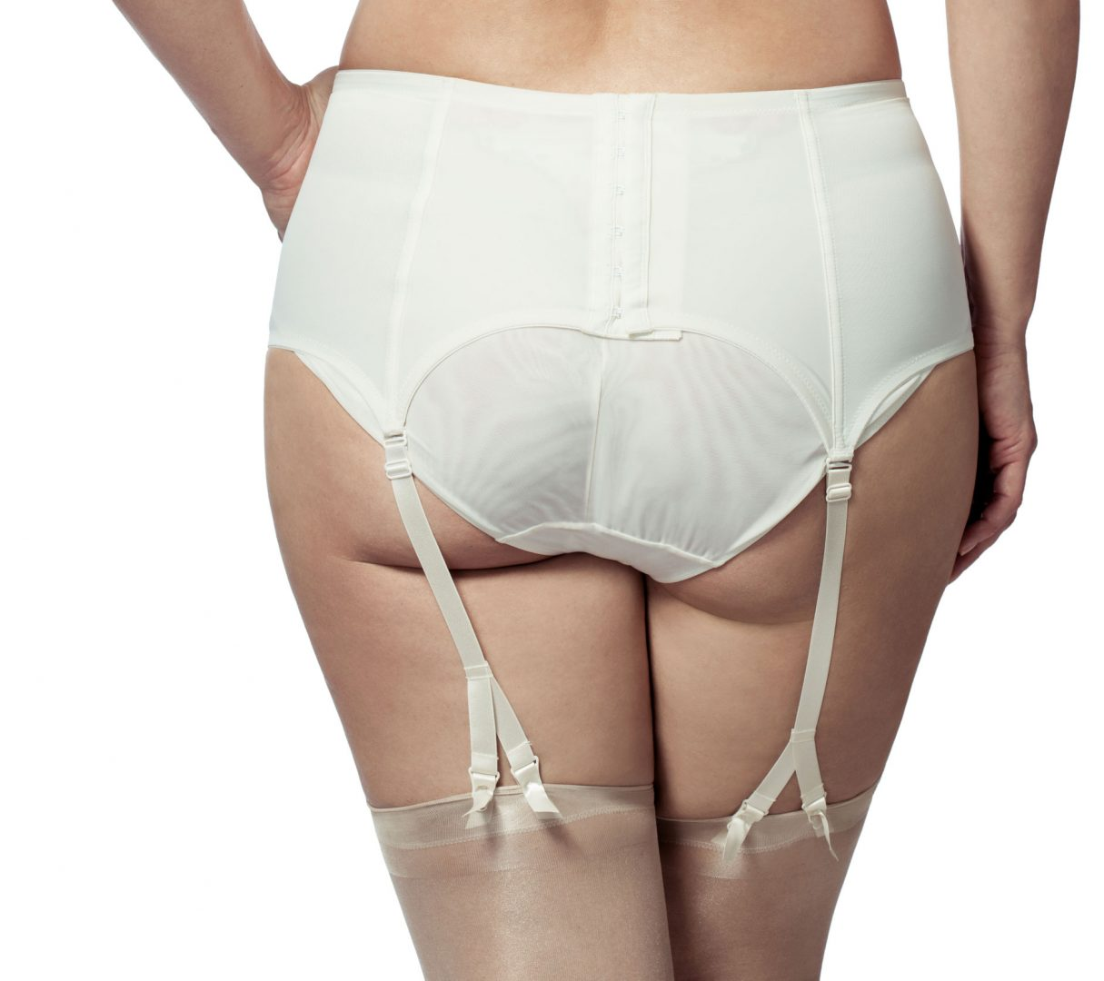 694347b038 Elila Glamour Embroidery Garter 9421. Elila 9421 Antique White-Close B