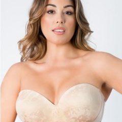 Curvy Couture Strapless Sensation Multi-Way Push-Up bra 1073