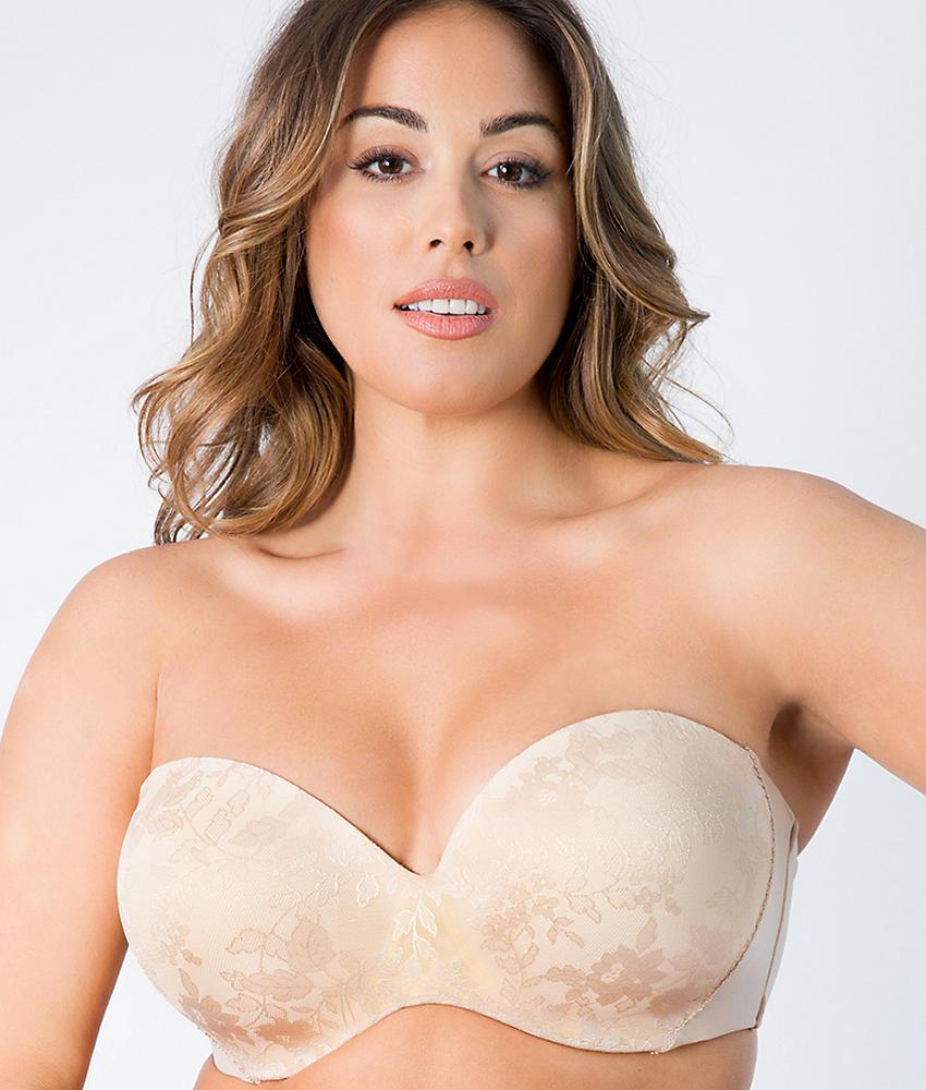9acb01dc482e1 Curvy Couture Strapless Multiway Push-Up bra 1211