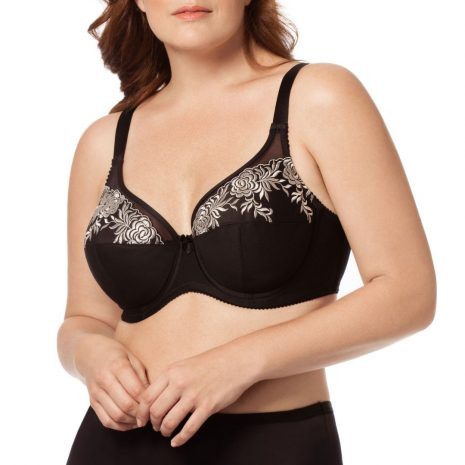 Elila Embroidered Microfiber Soft Cup Bra 2401
