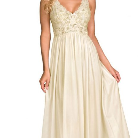 Shadowline Long Lace Bodice Nightgown 31737