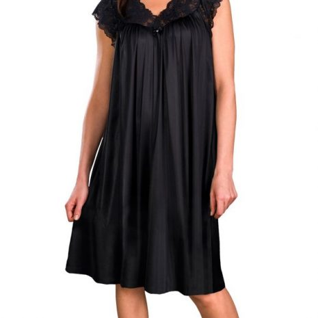 Shadowline¨ Short Lace Cap Sleeve Nightgown 36737