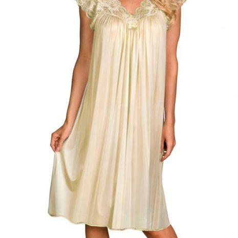 Shadowline® Short Lace Cap Sleeve Nightgown 36737x