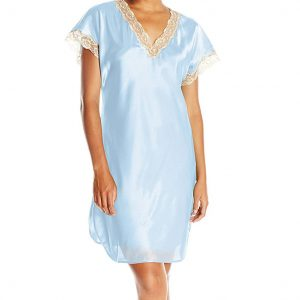 Shadowline Vintage Lace Trim Sleepshirt 4503