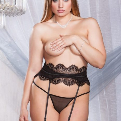 iCollection Eyelash Lace Garter Belt 7108X