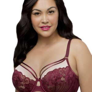 Curvy Couture Tulip Strappy Lace Push-Up Bra 1267