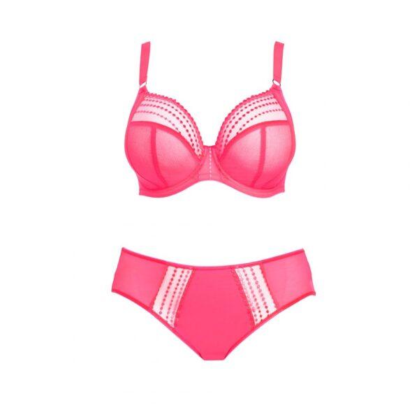 Elomi Matilda Plunge Bra & Panty set in Neon Pink
