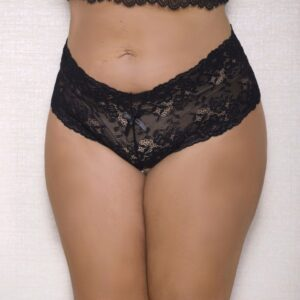 Women's Plus Size Lace Pearl String Boy Short 7120X