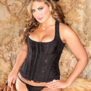 iCollection Brocade Racerback Corset G-String 7248X