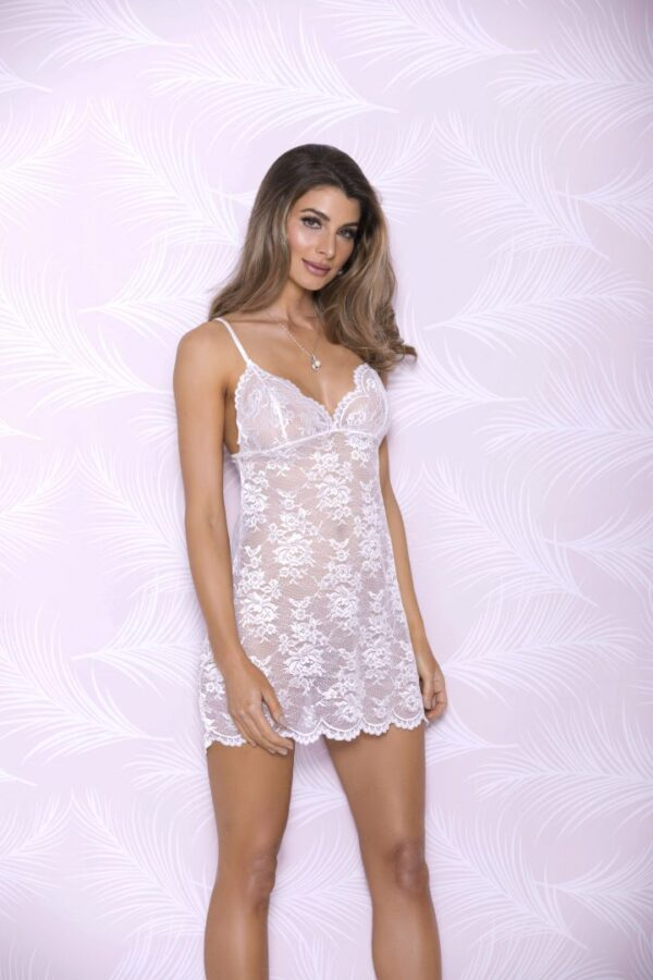 iCollection Lace Chemise with Scallop Cups | Style 7691