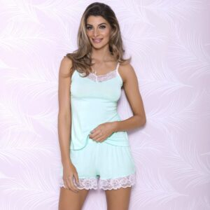 iCollection Modal Sleep Shorts with Lace Trim 7842