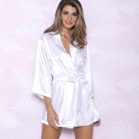 3/4 Sleeve Satin Bridal Robe 7847