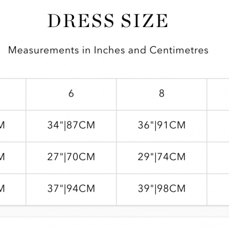 Bluebella Thong Size Guide