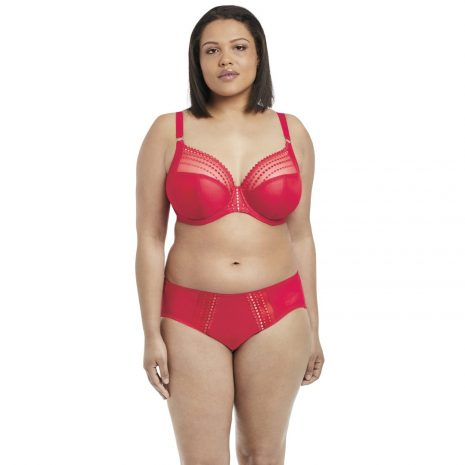 Elomi Matilda Underwire Plunge Bra EL8900 in Flame Red