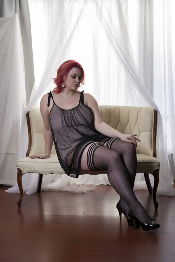 """Kixies """"Ally"""" plus sized thigh high stockings at Belle Lacet Lingerie."""