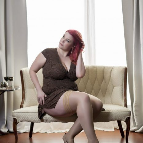 """Kixies """"Jenny"""" plus sized thigh high stockings at Belle Lacet Lingerie"""