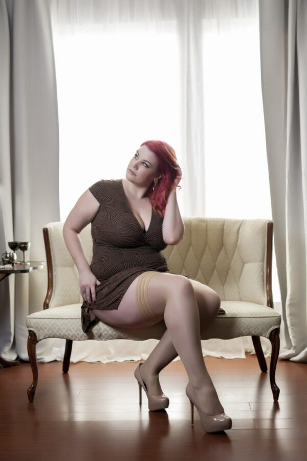 "Kixies ""Jenny"" plus sized thigh high stockings at Belle Lacet Lingerie"