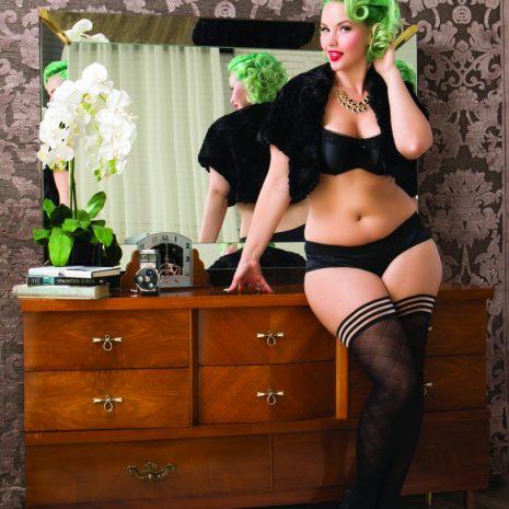 "Kixies, ""Tiffany"" plus size thigh highs at Belle Lacet Lingerie."