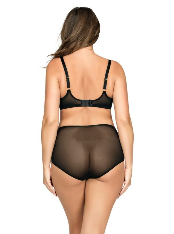Back view of the Parfait Brianna Underwire Bra in Black Floral