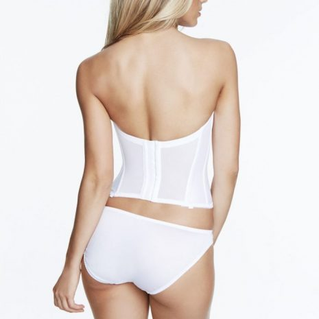 Back view of Dominique Rachelle Satin Longline Bridal Bra