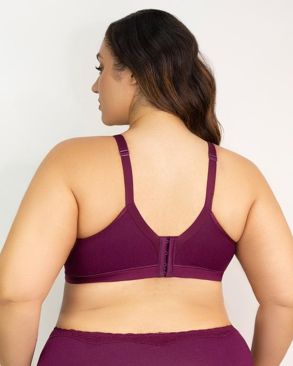 Curvy Couture Cotton Luxe Unlined Wire-free bra 1010 at Belle Lacet Lingerie.