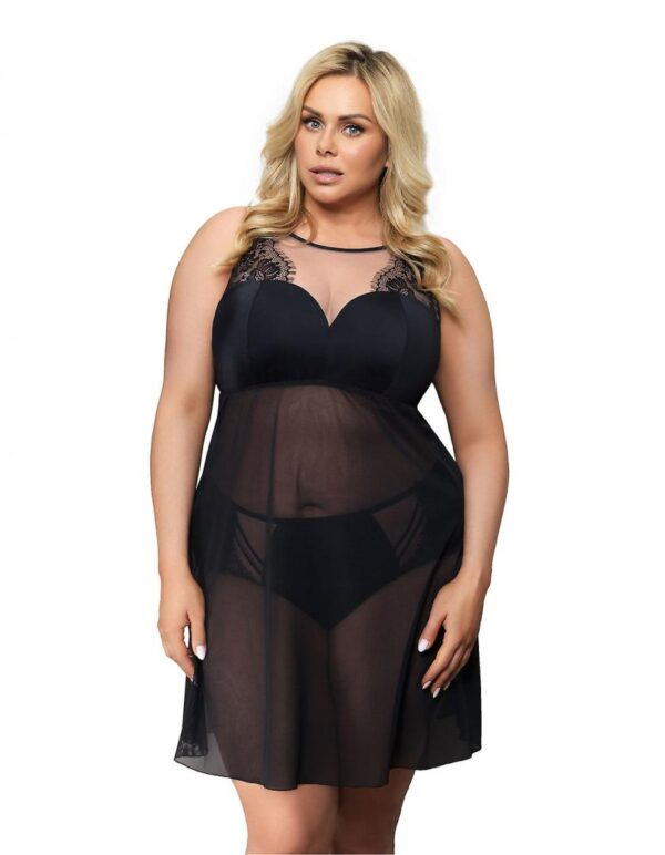 Gorsenia Paradise Sheer Lace Nightgown K499 plus