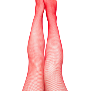 Kix'ies Sandra Red Fishnet Thigh High Stockings 1323