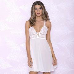 iCollection Soft Lace Cup Chiffon Chemise 7698