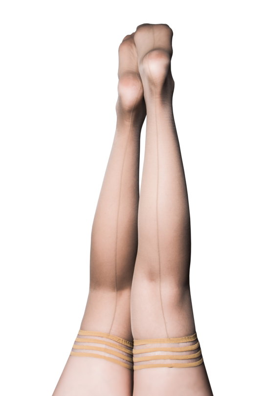 Kixies Vanessa Back Seam Thigh High Stockings 1322