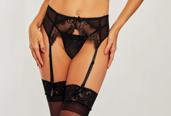 iCollection Mesh and Eyelash Lace Red Garter 7162 at Belle Lacet, Chandler-