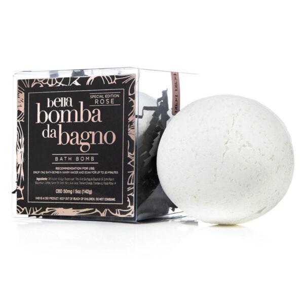 Bella Bomba Da Bagno Rose Bath Bomb (CBD)