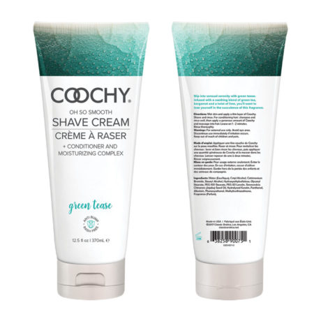 Coochy Shave Cream 12.5oz (Green Tease) at Belle Lacet Lingerie in Chandler-Phoenix.