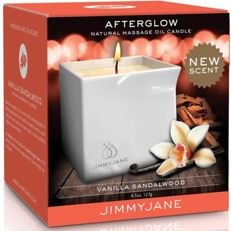 JimmyJane Afterglow Candle (Vanilla Sandlewood) at Belle Lacet Lingerie in Chandler-Phoenix.