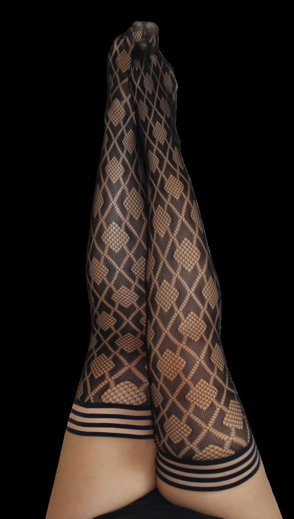 Kix'ies Elle Thigh High Stockings 1316 PLUS at Belle Lacet Lingerie, Chandler