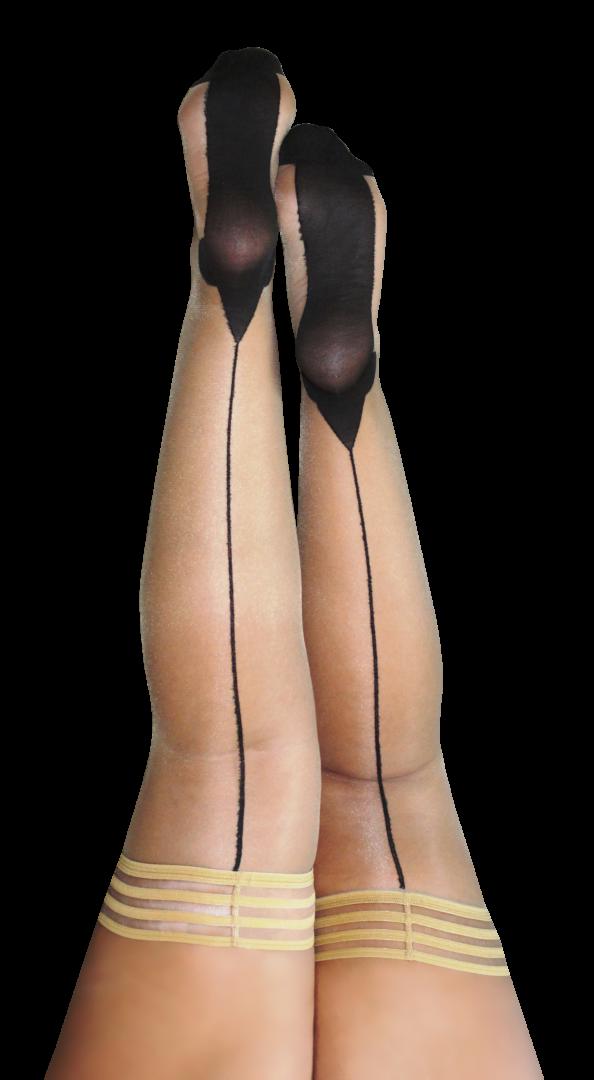 Kix'ies Ruby Thigh High Stockings 1318 PLUS