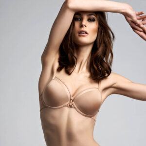 Marlies Dekkers Space Odyssey Balcony bra 17151 in camel at Belle Lacet Lingerie.
