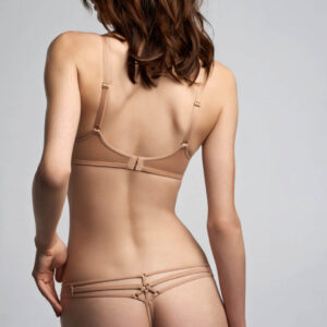 Marlies Dekkers Space Odyssey Balcony bra set 17151 in camel at Belle Lacet Lingerie.
