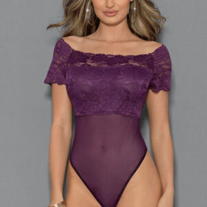Addison Plum Lace Body by Escante at Belle Lacet Lingerie