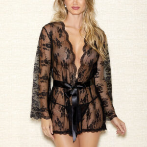 Scallop Edge Lace Robe by iCollection
