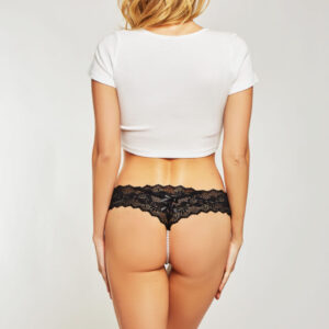 Cheeky Lace Panty with Pearl String at Belle Lacet Lingerie