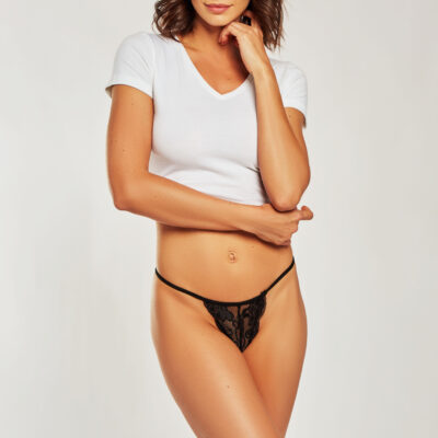 LYLA Lace Thong by iCollection at Belle Lacet Lingerie.