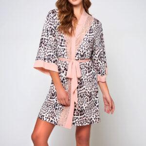 KATIE Leopard Print Robe at Belle Lacet Lingerie.